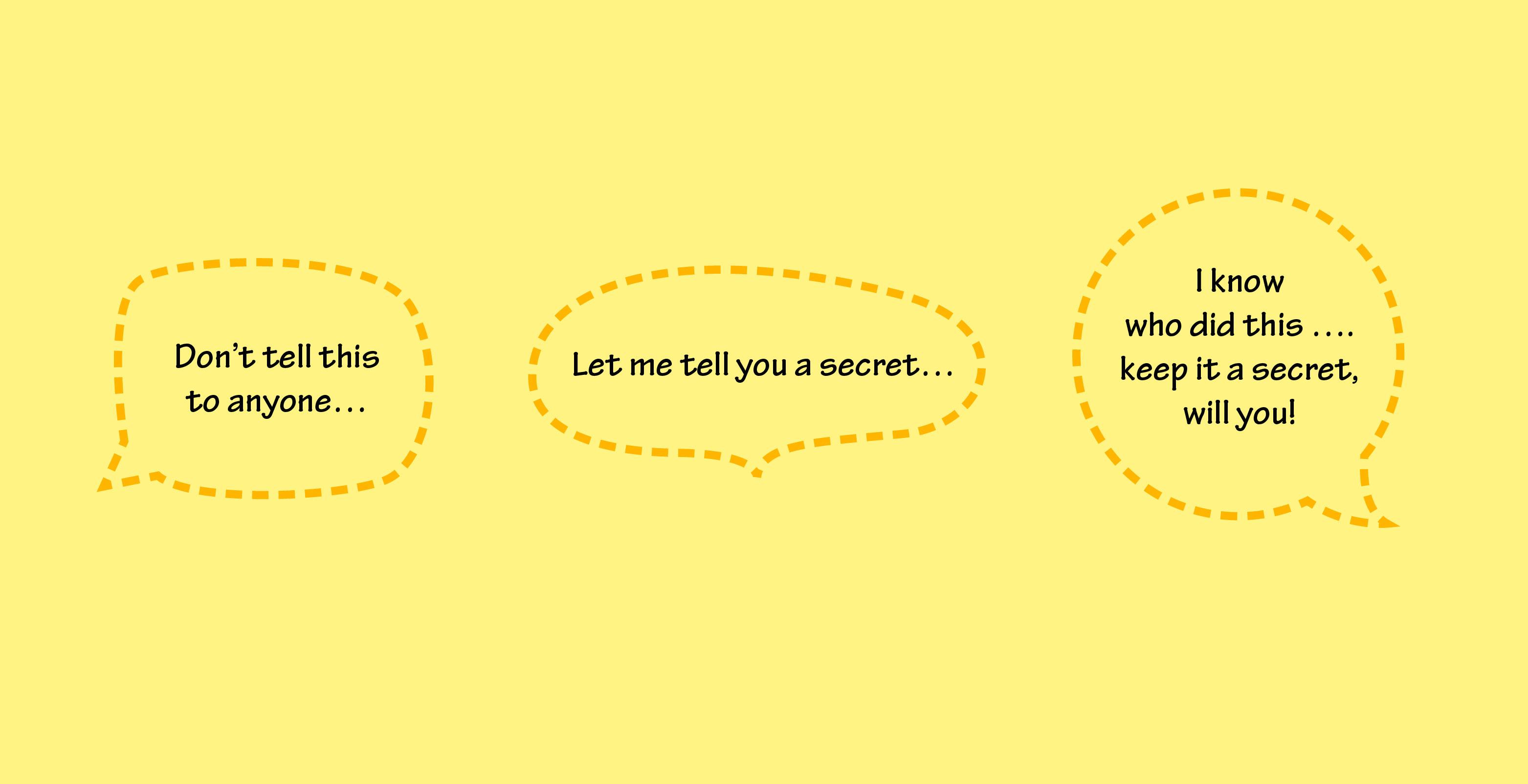 secret speech bubble