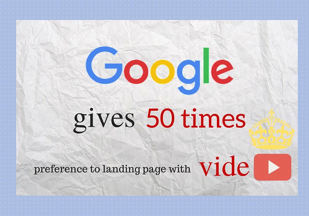 Google gives preferance to videos