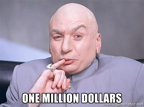 Certain Youtubers make one million dollars