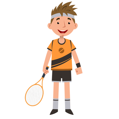 Sports-Tennis Player Character