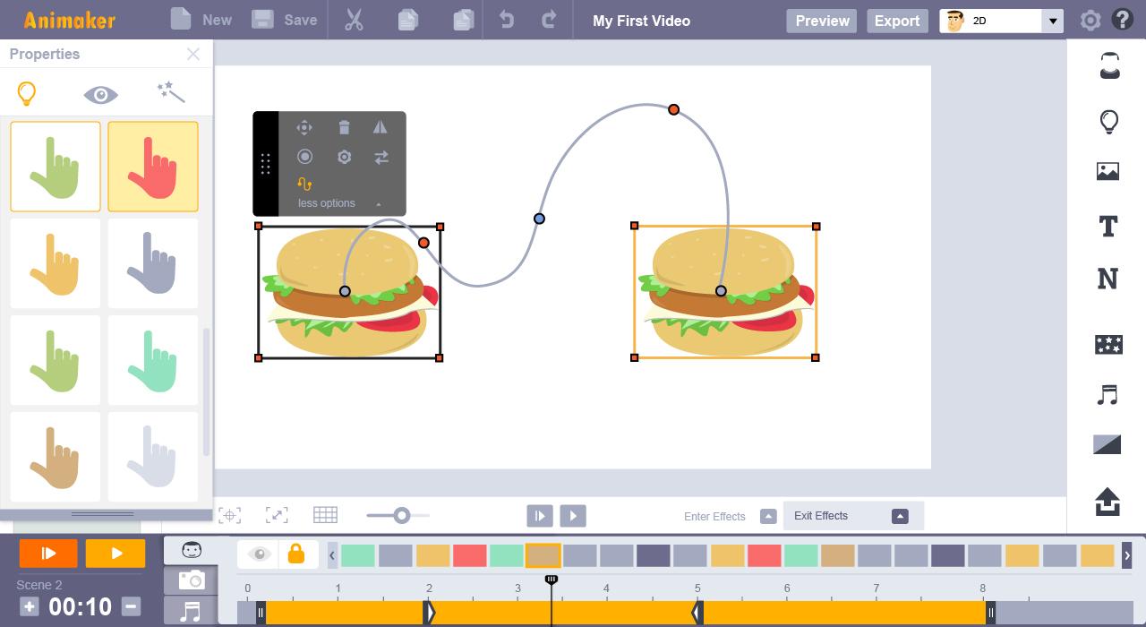 curve animation feature