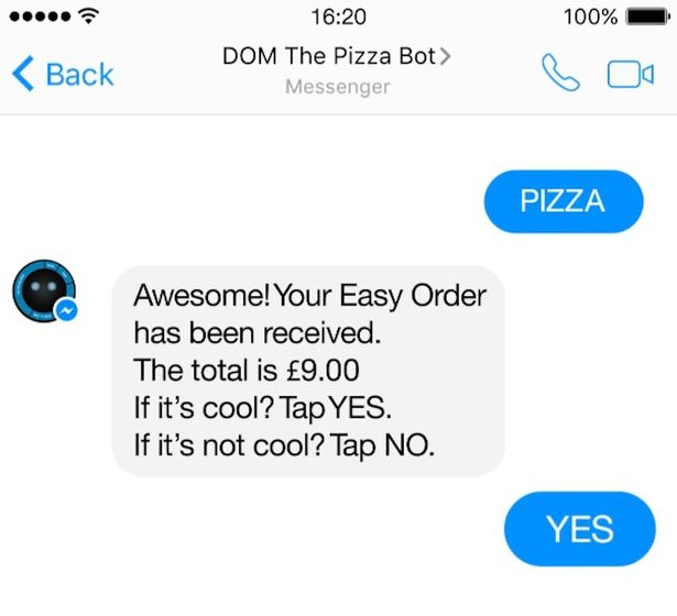 Dominoes Pizza Bot