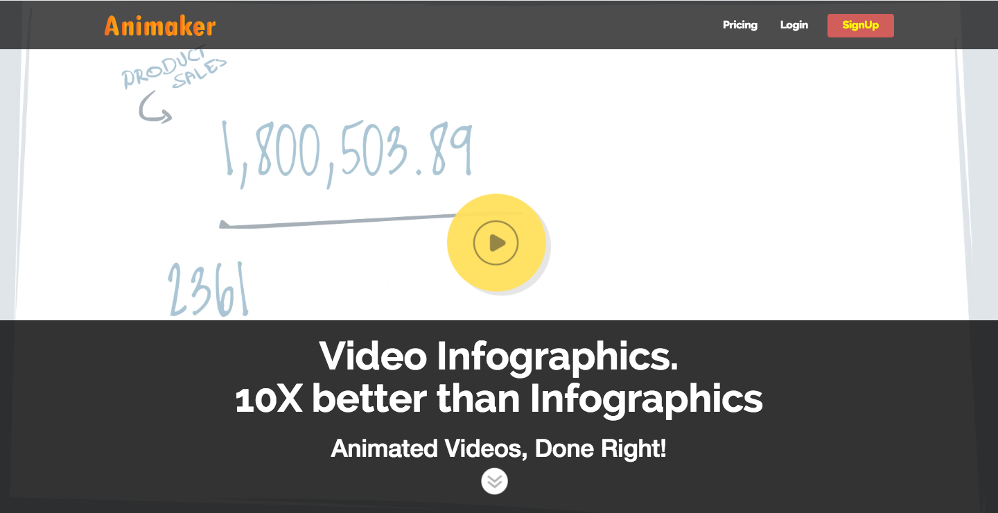 Video Infographics Landing Page