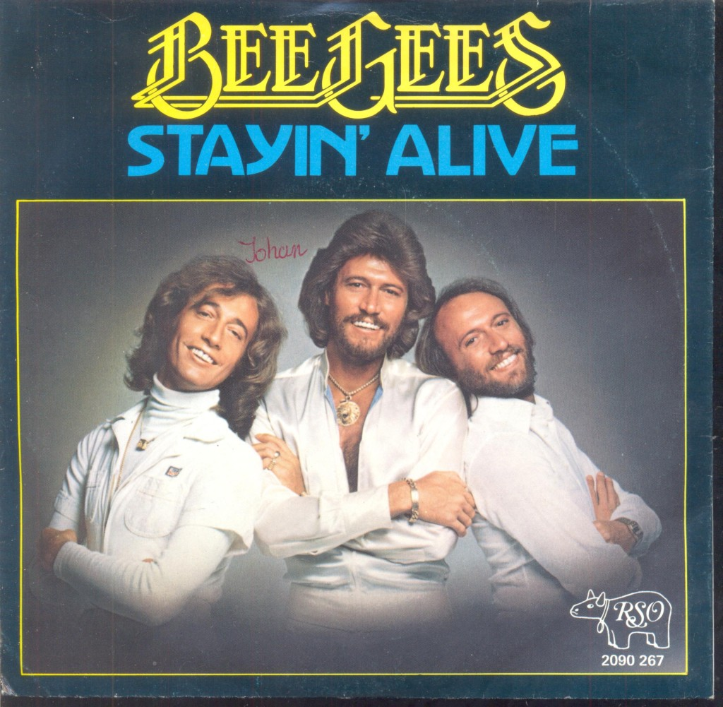 Beegees Stayin Alive CD Cover