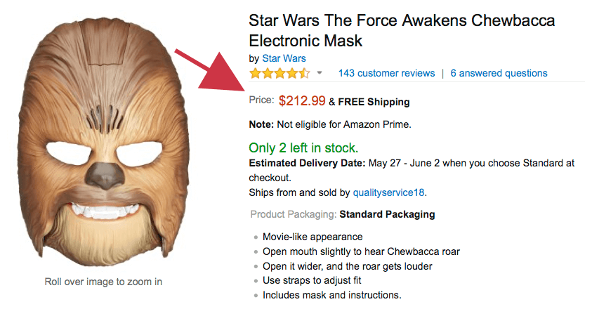 Chewbacca Mask Price