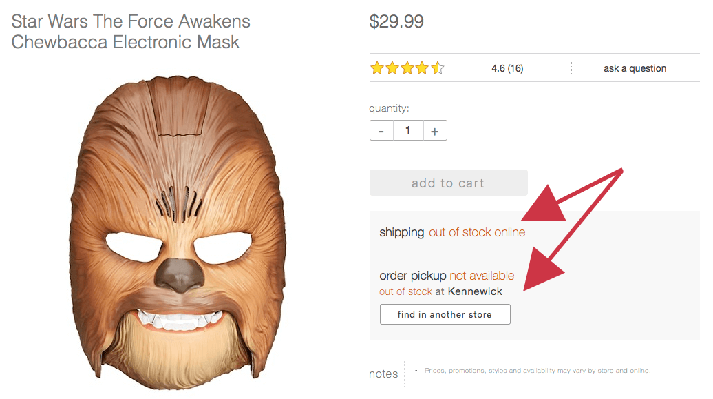 Chewbacca Mask Sold out