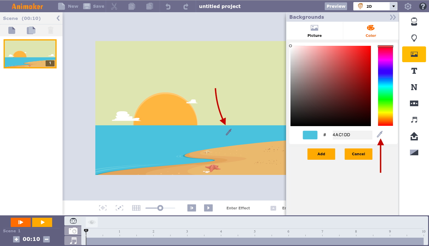 Make your own cartoon video using our free 2D animation software
