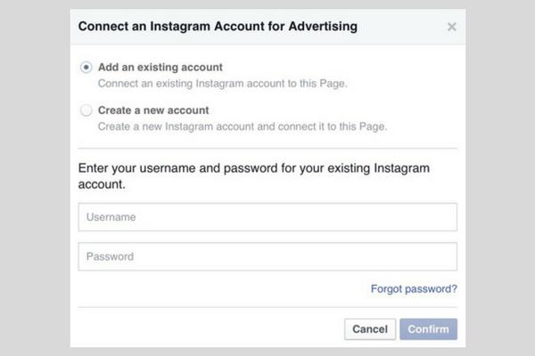 coonect instagram stories to facebook