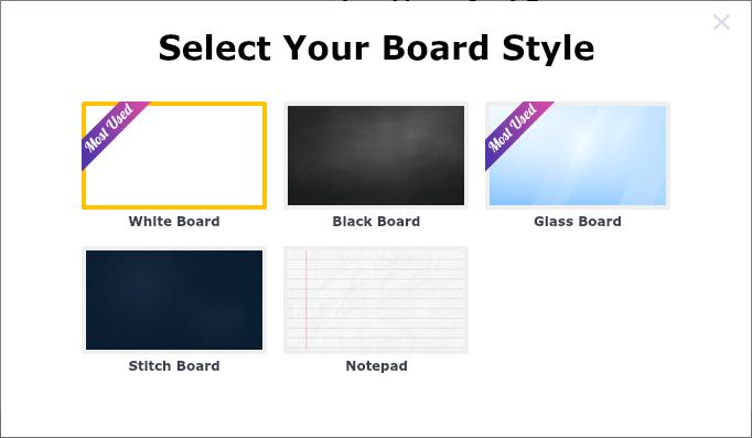 5 styles of whiteboard