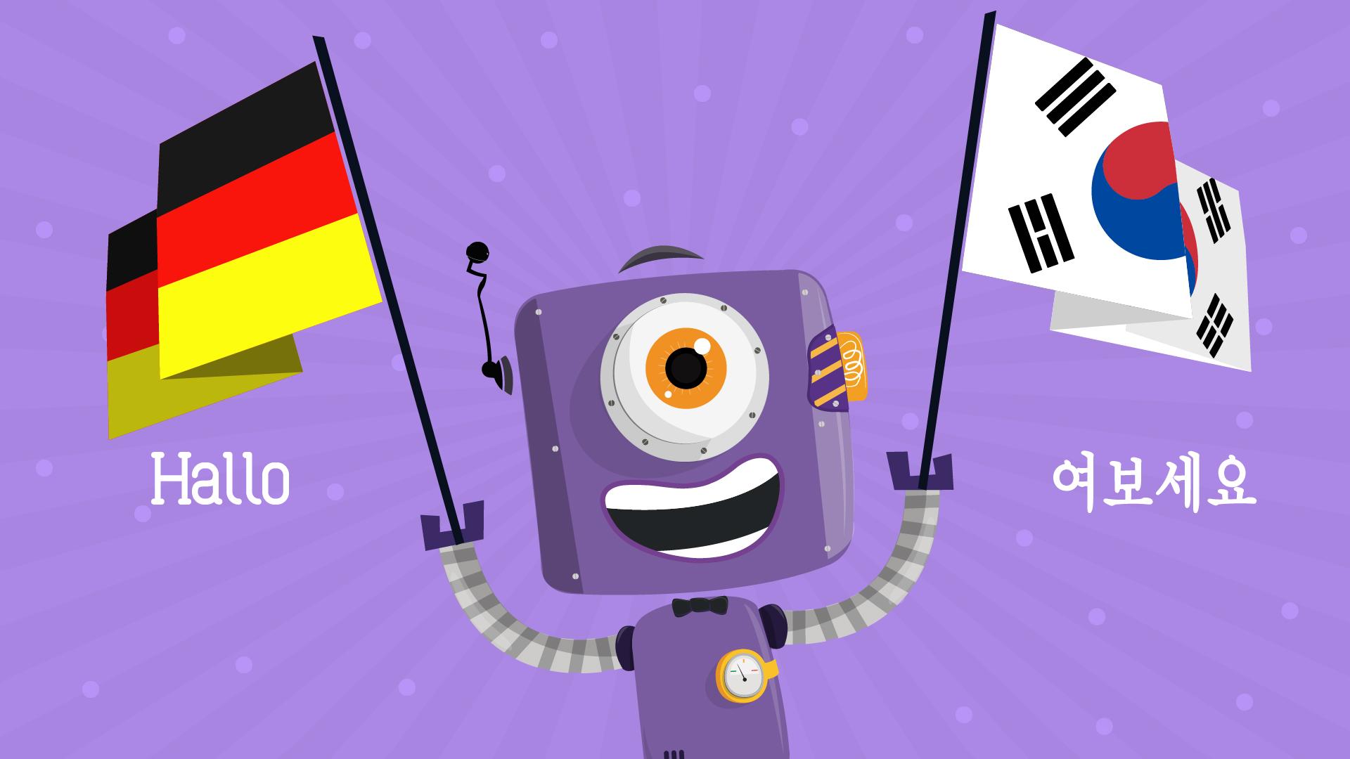Animaker Korean and German Website