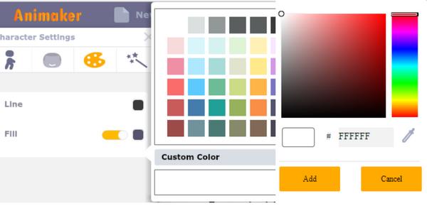 Animaker color picker