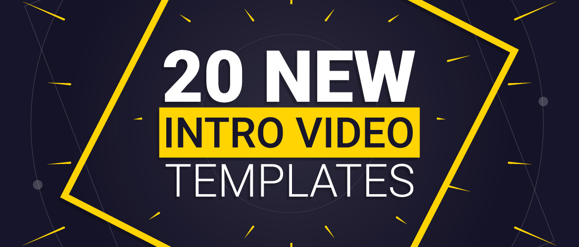 Create Intro videos in less than 5 minutes using these 20