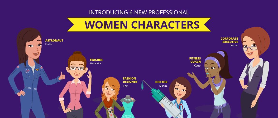 Professional women characters