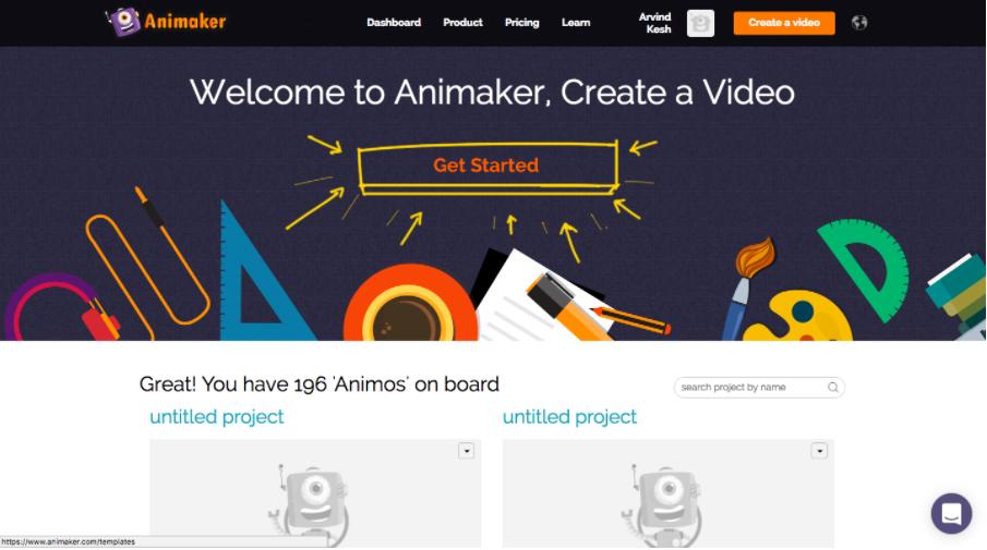 Animaker_dashboard