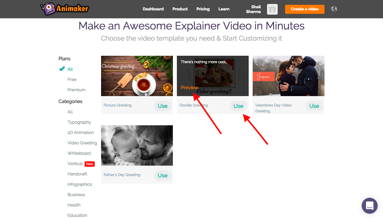 Photo video templates