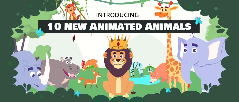 Animaker Animal characters
