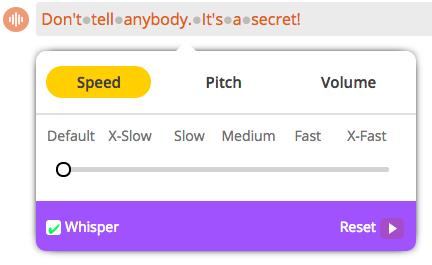 Animaker Voice - secret