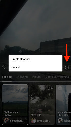 Create Channel on IGTV