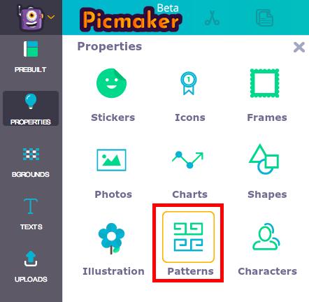 Picmaker pattern menu