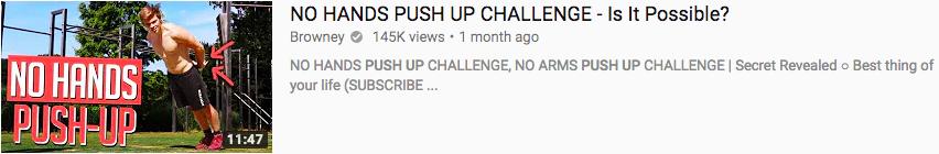 Pushups YouTube thumbnail