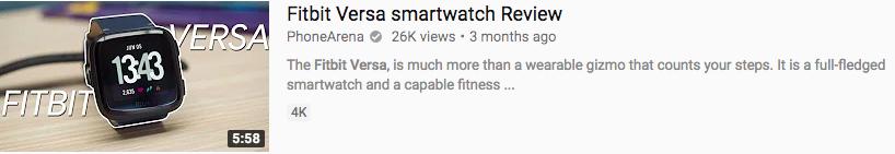 Fitbit versa YouTube thumbnail
