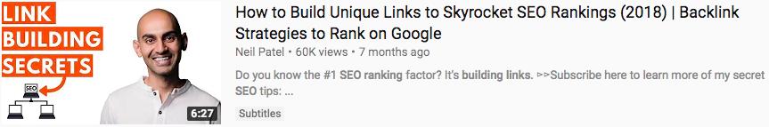 Neil Patel YouTube thumbnail