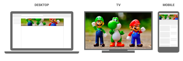 Channel art on different devices
