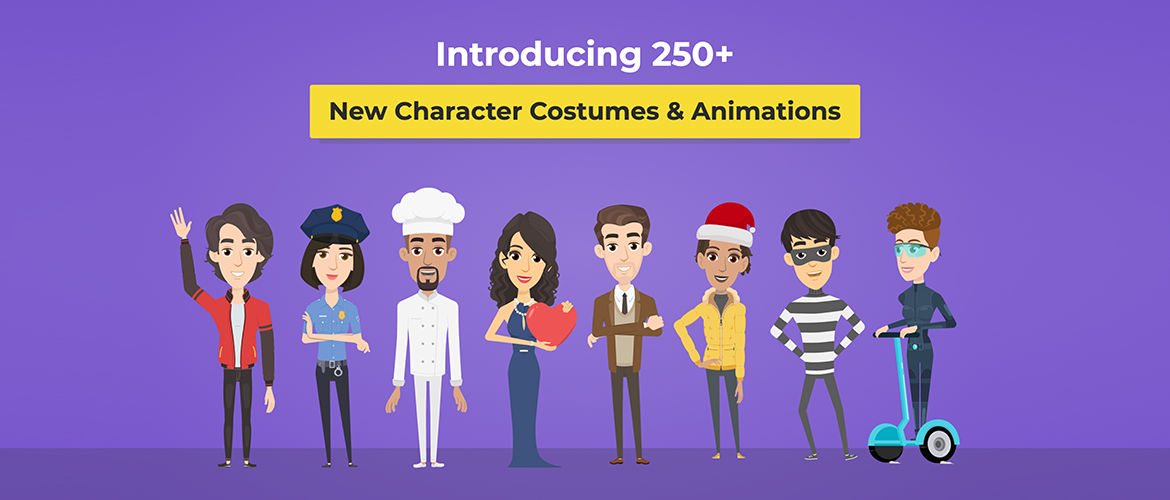 250+Character Costumes & Animations