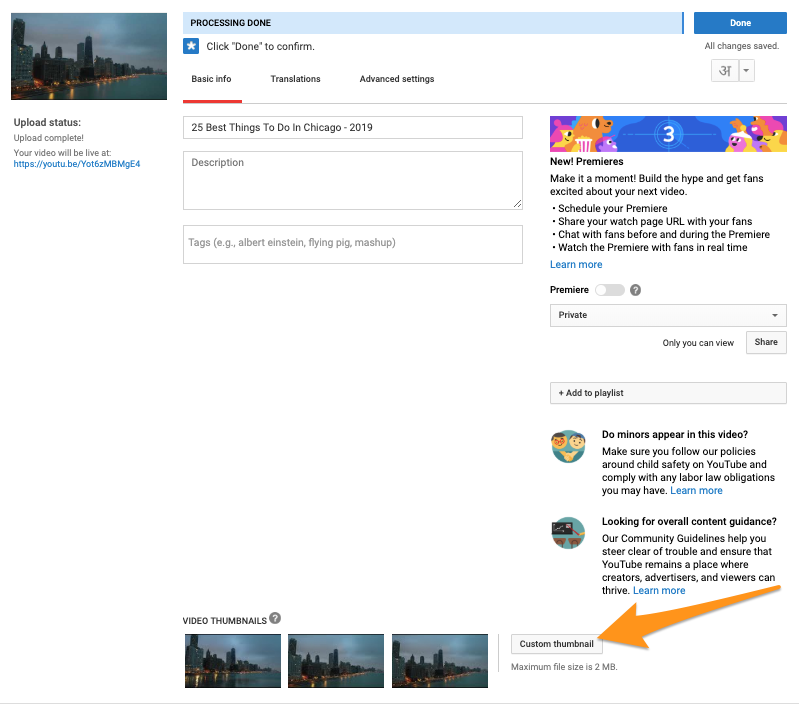 How to Change a Thumbnail on Youtube in 2019(With Pictures)
