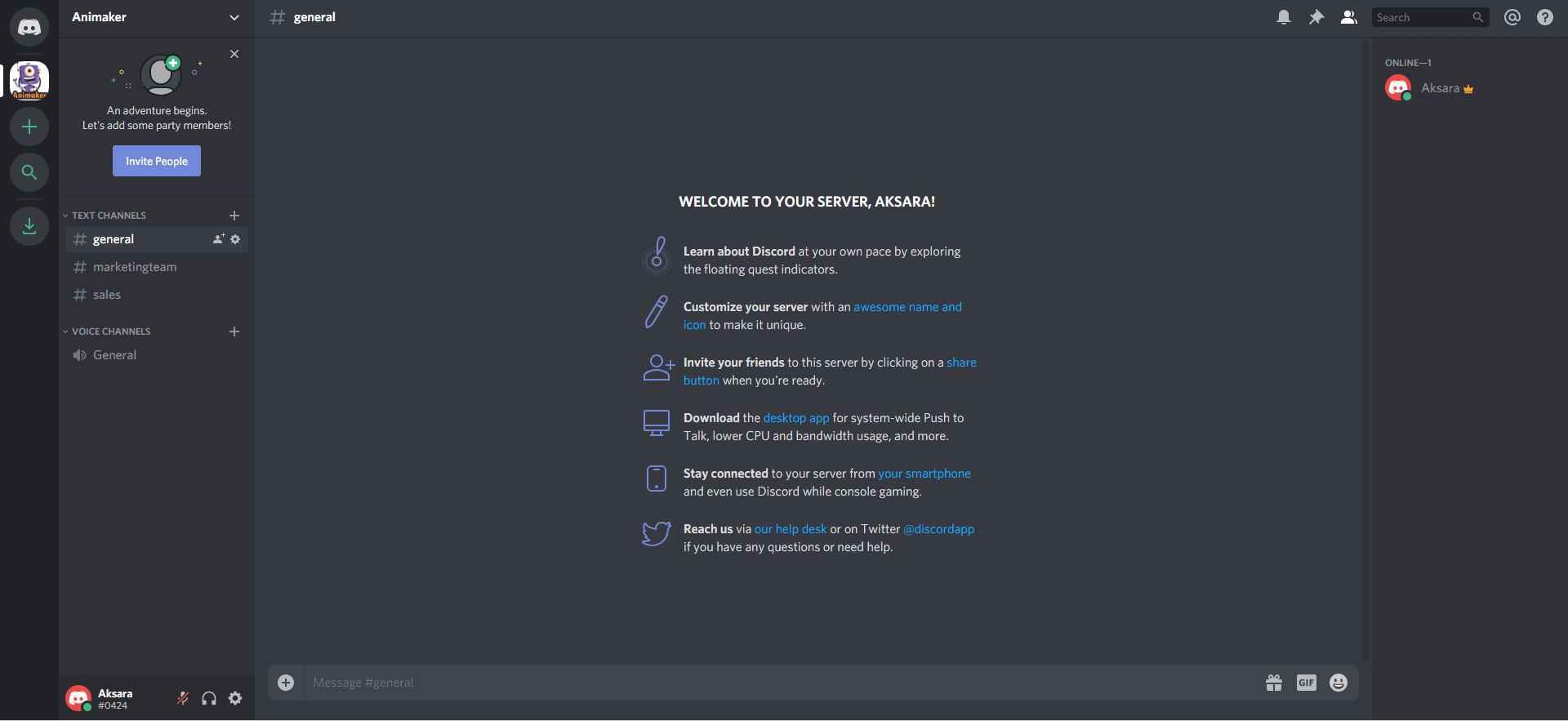 Discord for work