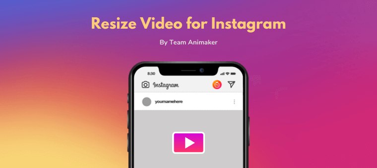 Resize video for instagram