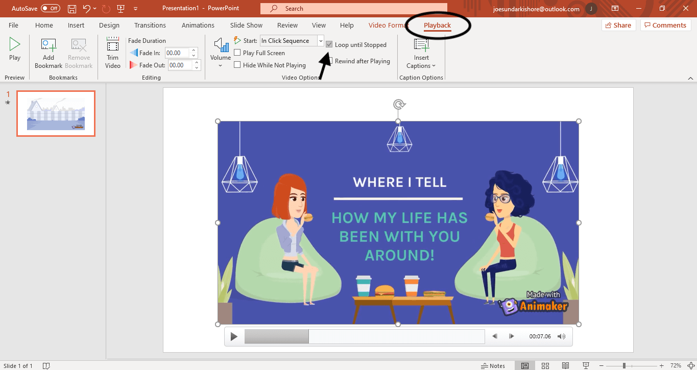 how to loop videos for powerpoint presentation