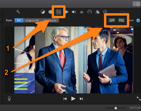 Click on the cropping icon and flip it horizontally or vertically 2