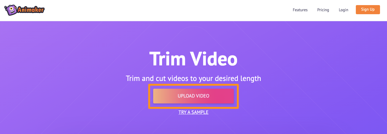Animaker Trim Video Tool 1