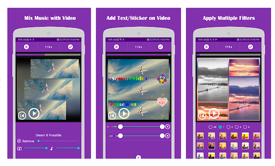 square fit photo video editor android app