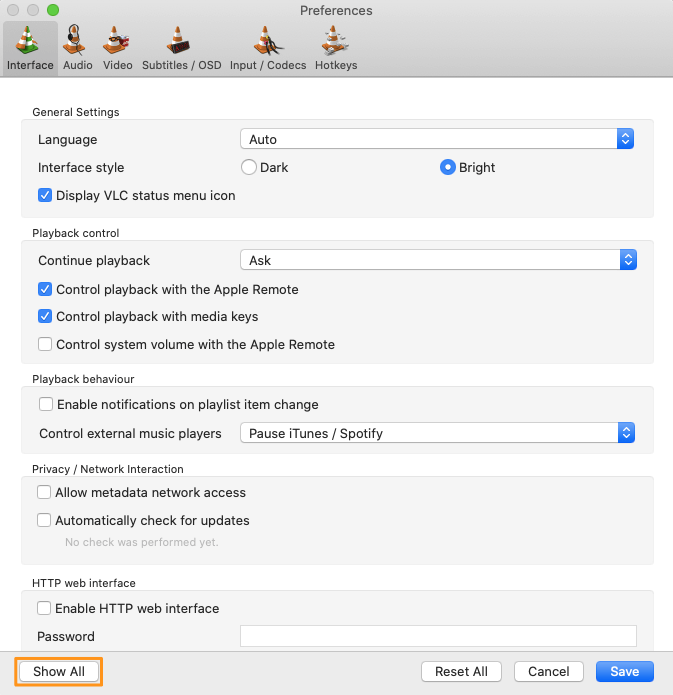 click show all button on mac