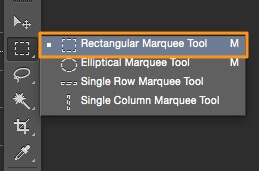 select the rectangular marquee tool
