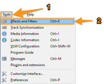 tools and effects and filters on windows