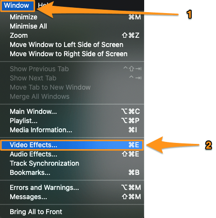 window and video effects on mac