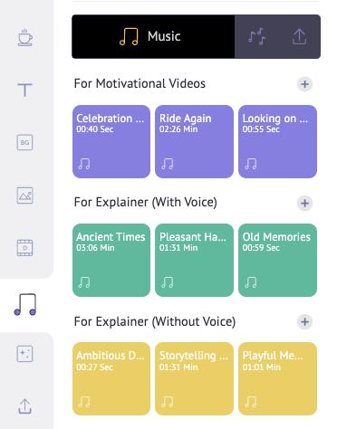 add music track