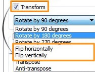 flip horizontally or vertically