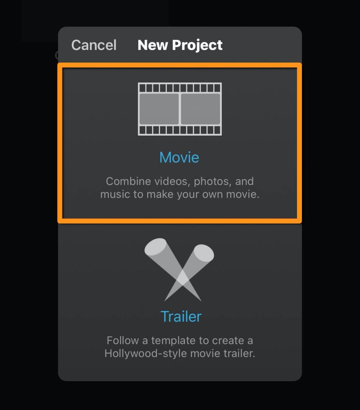 select movie