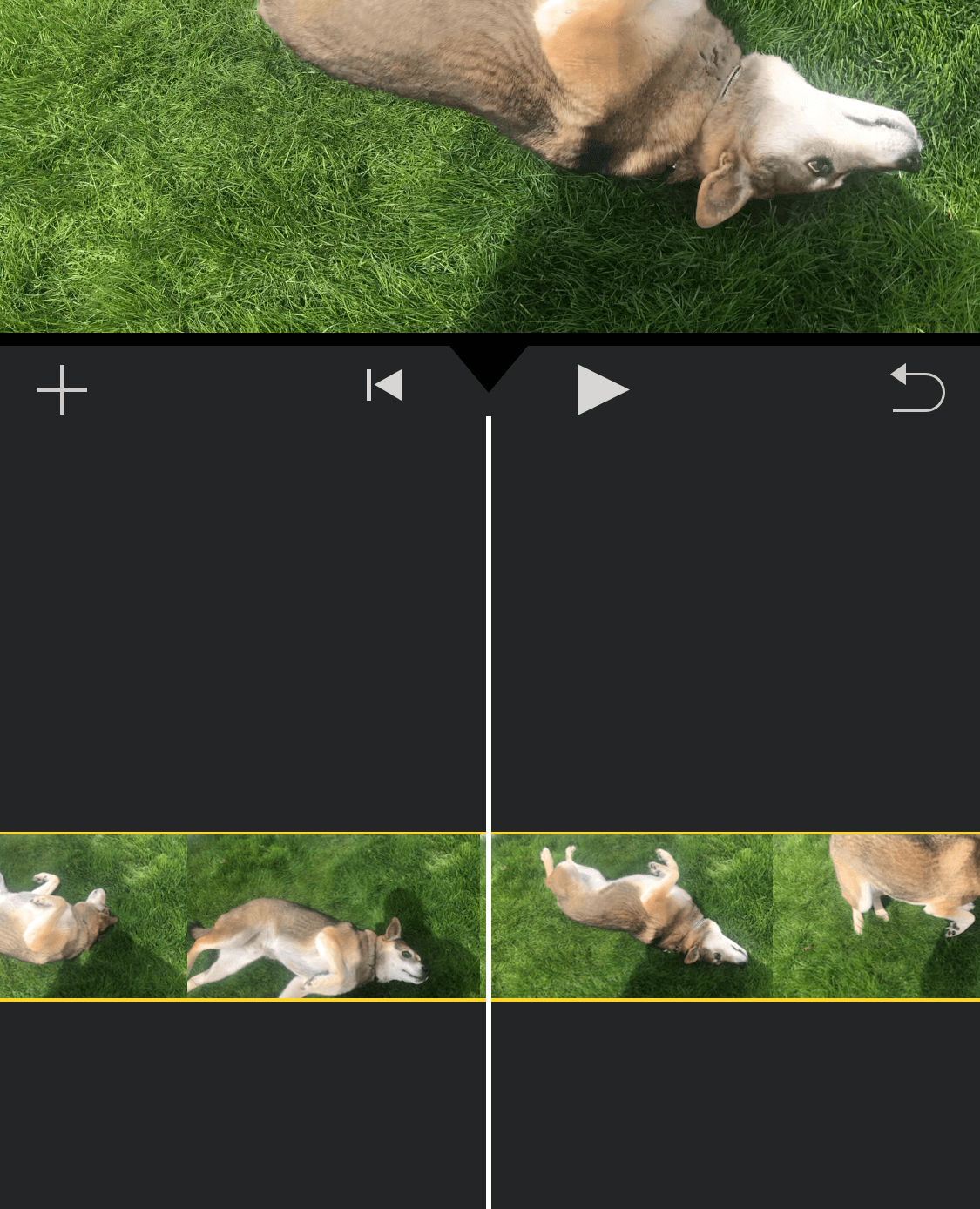 tap video clip to select