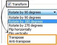 transpose or antitranspose