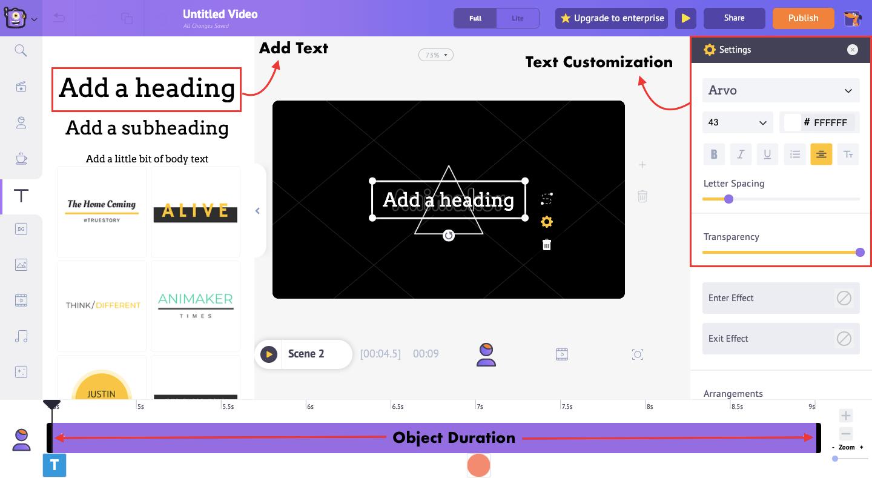 Add & customize text