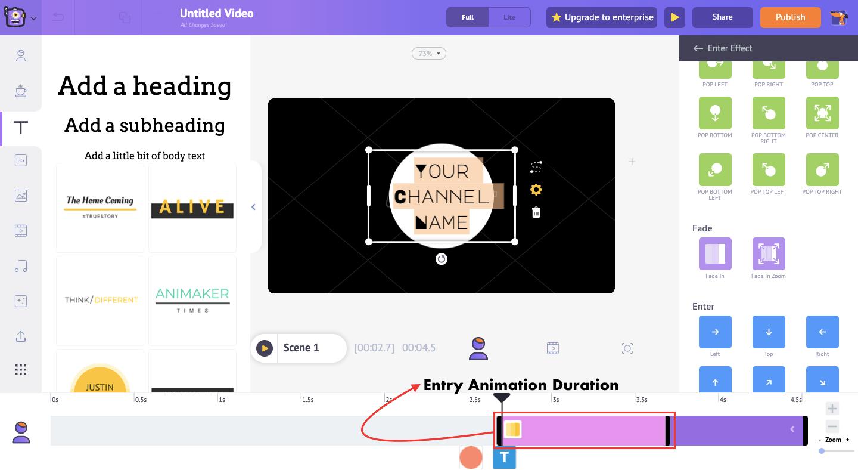 Customize animation duration