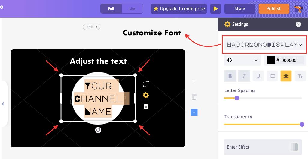 customize text asset