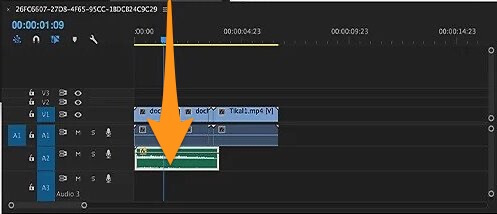 drag and drop the audio track onto the timeline